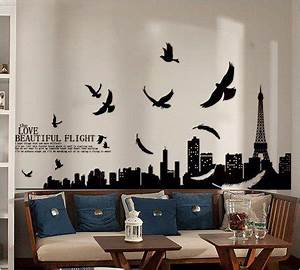 Princess39 dream paris eiffel tower living room removable for What kind of paint to use on kitchen cabinets for removable wall art for nursery