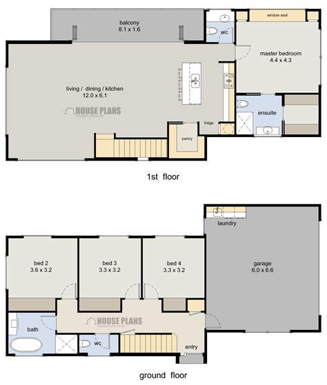 Wanaka 4 bedroom 2 storey HOUSE PLANS NEW ZEALAND LTD