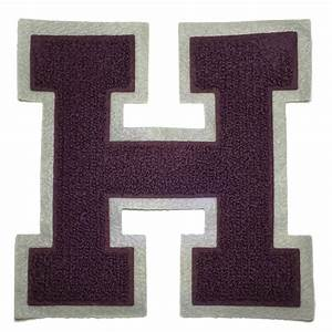chenille varsity letterman jacket patch h letter premium With chenille letter patches