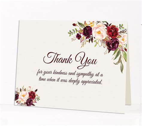 These cards are perfect for notifying family and friends of a loved one's passing, as well as serve as funeral and memorial invitations. Romace: Funeral Thank You For Your Sympathy Quotes