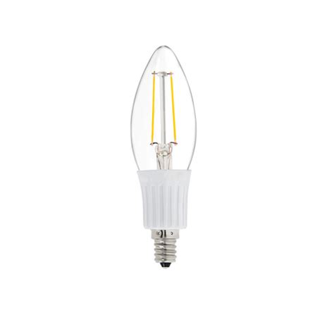 dc 12 volt chandelier cool white 6000k 2w led candle