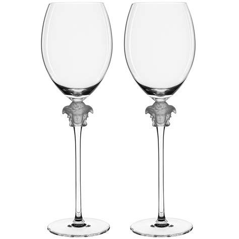 1376 versace wine glasses rosenthal versace medusa lumiere wine glass set 2pce