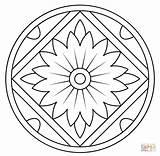 Mandala Coloring Pages Pattern Kaleidoscope Floral Printable Drawing Getdrawings Getcolorings Colorings sketch template
