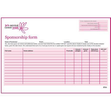 digital product sponsorship form jos cervical cancer trust