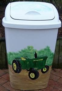 25 best painted trash cans ideas on pinterest lowes for Kitchen cabinets lowes with john deere wall art