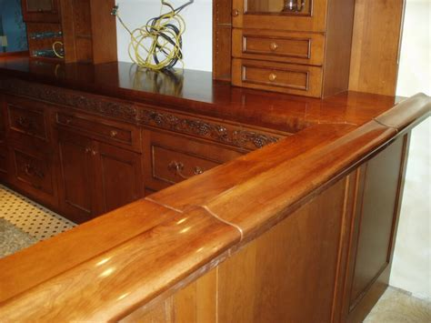 Bar Countertop by 1000 Images About Wood Bar Tops On Wide Plank