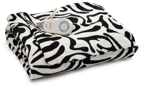 Sunbeam Zebra Imperial Plush Ultra Soft Heated Throw Blanket Electric Animal Can I Put Electric Blanket Under Mattress Protector Sunbeam Twin Size Microplush Queen Bed Grey Wool Scarf Is Safe For Newborns Use An A Best Swaddle Blankets Older Babies Double Crochet Baby Instructions