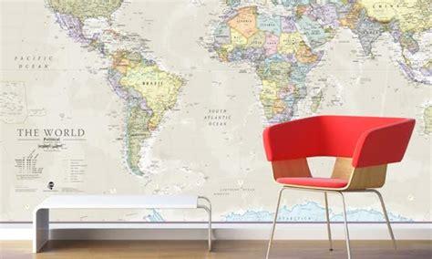 carte du monde murale g 233 ante groupon shopping