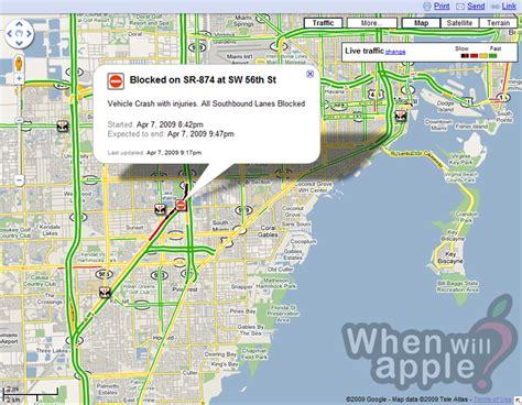 maps traffic now provides car details