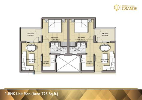 1 Bhk Home Design Plan : 3 Bhk And 4 Bhk Apartments In Chandigarh