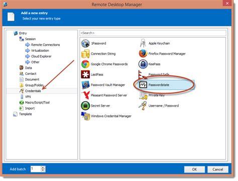 passwordstate  fully integrated  remote desktop manager