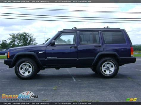 blue grey jeep cherokee 1998 jeep cherokee sport 4x4 lapis blue mist gray photo