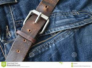Old Belt And Jeans Stock Image - Image 5339341