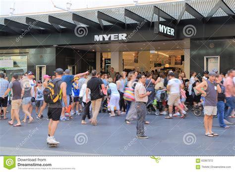 christmas shopping melbourne australia editorial