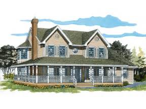 Farmhouse With Wrap Around Porch Plans Photo by Painted Creek Country Farmhouse Plan 062d 0309 House