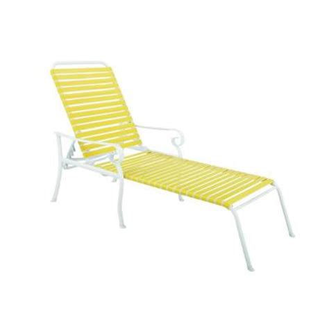 hton bay summerville patio chaise lounge in yellow