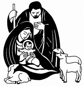 Religious Christmas Clipart Black And White | Clipart ...
