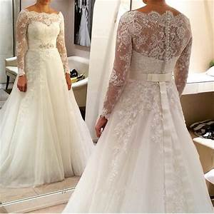 2016 new style plus size wedding dress long sleeve with With long plus size wedding dresses