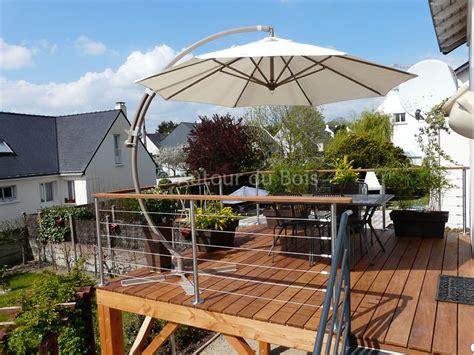 terrasse bois suspendue sur pilotis et balcons bois 224 angers artisan construction menuisier