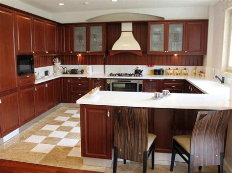 Kitchen Island And Breakfast Bar - u shaped kitchens hgtv