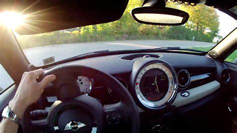 mini cooper  coupe winding road pov test drive
