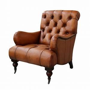 European, Design, Tufted, High, Back, Leather, Chair