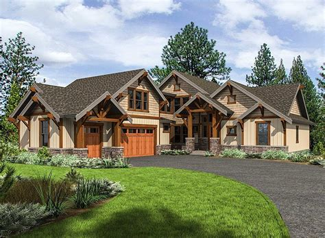 Plan 23702JD: Mountain Craftsman House Plan with 3