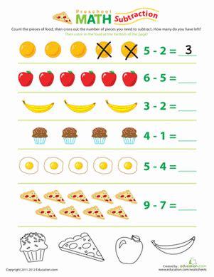 food math subtraction fun worksheet educationcom