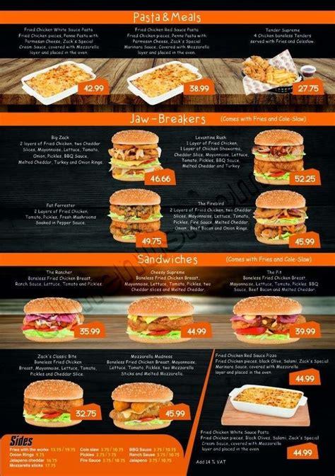 menu zack egypt chicken zacks elmenus restaurant el hotline delivery email menuegypt tweet google
