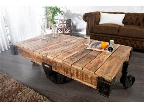 evier rond cuisine table basse à roulettes industrielle en bois massif railway