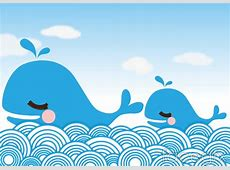 Two blue whale cartoon vector – Over millions vectors