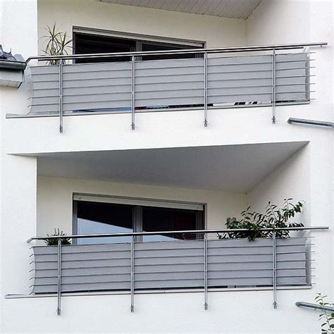 garten moy balkon sichtschutz aus bambus oder kunststoff roehrchen