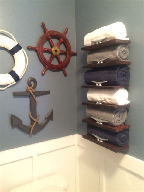 handmade pallet wood nautical towel rack  onegirlandasaw