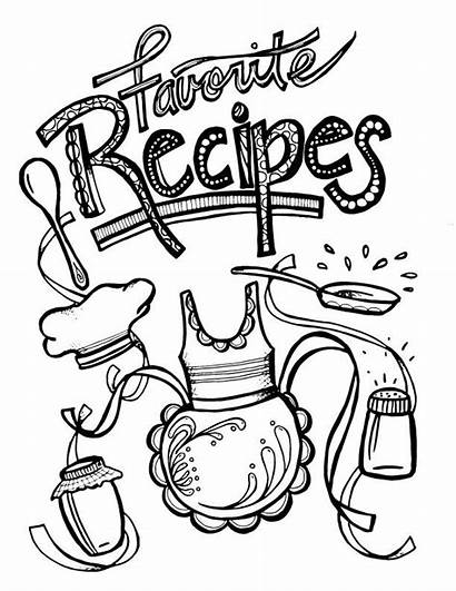 Binder Pages Recipe Coloring Recipes Printable Templates