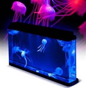 jellyfish aquarium deluxe jellyfish tank led light fishtank household m ebay