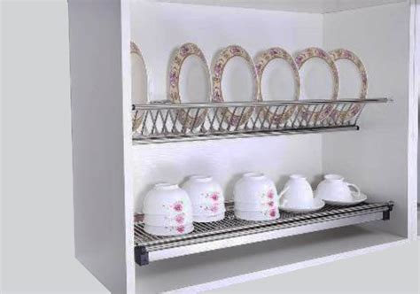 dish holder for kitchen cabinet kitchen cabinet stainless steel dish rack knockers hardware 8736