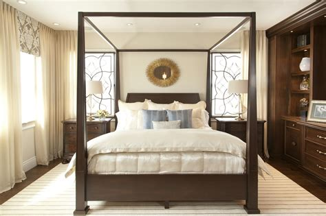 vibrant transitional master bedroom    san