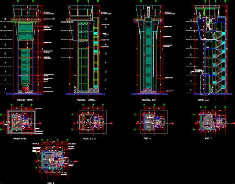 air traffic control tower dwg detail  autocad designs cad