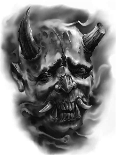 Hannya mask | Evil tattoos, Skull tattoo design, Japan tattoo design