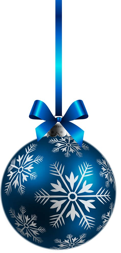 large transparent blue christmas ball ornament png clipart