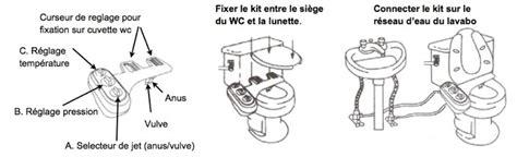 installation d un bidet wc japonais ou toilette japonaise kit douchette wc ou