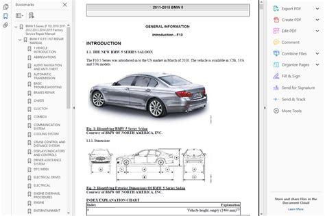 > Official Workshop Manual Service Repair Bmw 5 Series F10