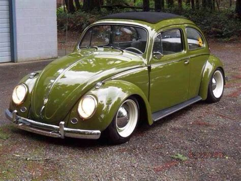 olive green vw beetle soft top dream ride pinterest