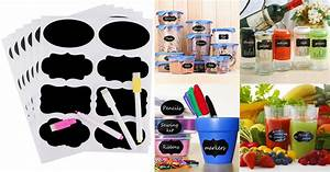 amazon 48 reusable chalkboard labels and chalk markers With kitchen cabinets lowes with hydro flask stickers