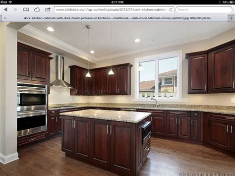 hickory floors cherry cabinets home ideas