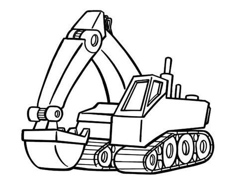Coloring Excavator by Coloring Pages For Free Part 8