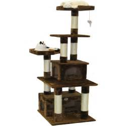 go pet club cat tree go pet club 67 quot condo house cat tree reviews wayfair