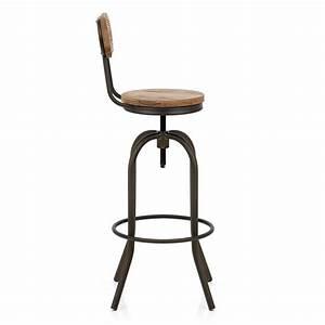 Tabouret Bar Vintage : chaise de bar bois vintage swivel monde du tabouret ~ Preciouscoupons.com Idées de Décoration