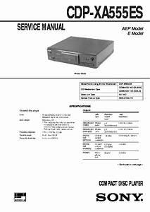 Sony Cdp-xa555es Service Manual