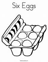 Coloring Eggs Six Egg Pages Carton Ham sketch template